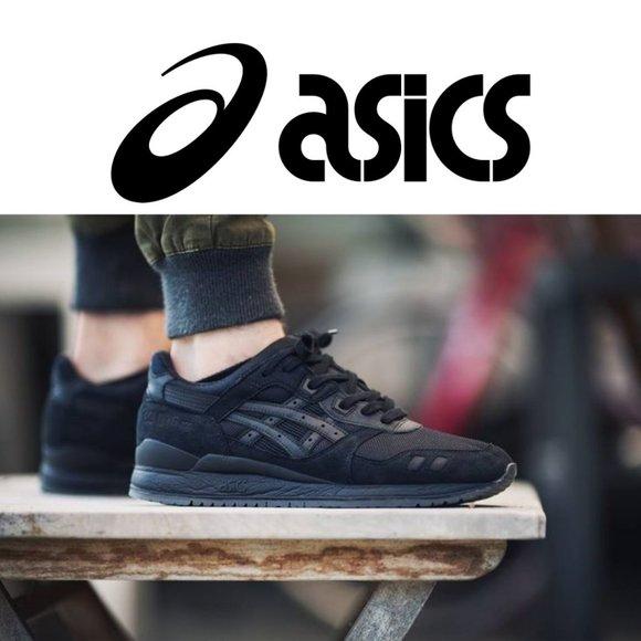 Asics Gel Lyte III Black/Black Size 12
